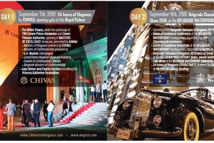 Concorso di Eleganza a Belgrado - invito ai soci CAMET - 7-9 Settembre 2018