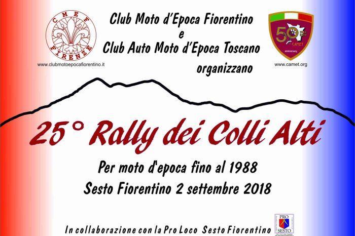 Domenica 2 Settembre - per gli appassionati delle Due Ruote - 25 Rally Colli Alti con il CMEF