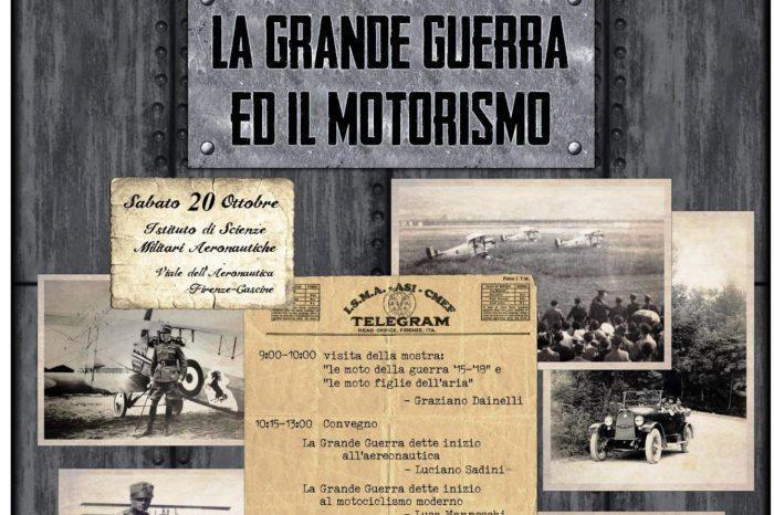 """Mostra su """"La Grande Guerra ed il Motorismo"""" Sabato 20 Ottobre"""