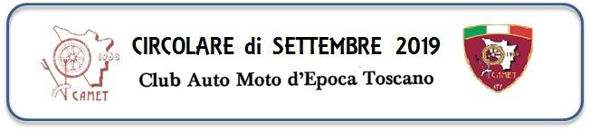 CIRCOLARI AI SOCI - SETTEMBRE 2019 e NOVEMBRE 2019