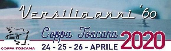 """XXV Rievocazione della Coppa Toscana - 24-26 Aprile 2020  - la Versilia anni '60 """"sapore di sale"""""""